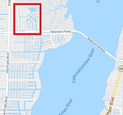 Four Mile Cove in Cape Coral map